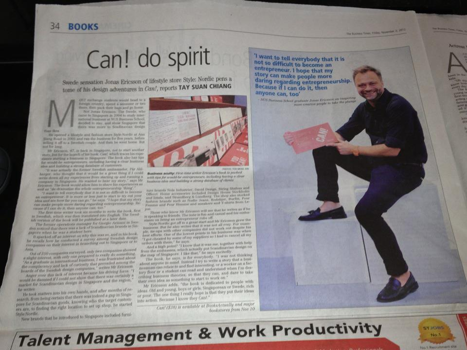 Article Business Times Singapore